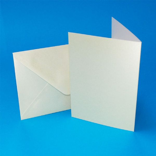 20 Craft UK A6 Pearlescent Card Blanks Ivory